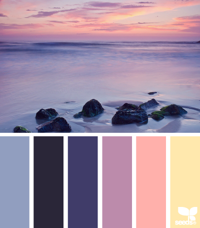 There's something about sunset colors that I love.