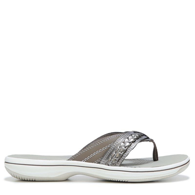 Clarks Women's Brinkley Nora Sandals (Pewter) - 11.0 M