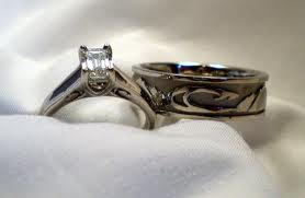 Dream wedding bands, has a river theme.