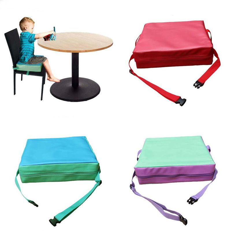 Kid Baby High Seat Increased Chair Booster Pad Toddler Dining Home Cushion Round