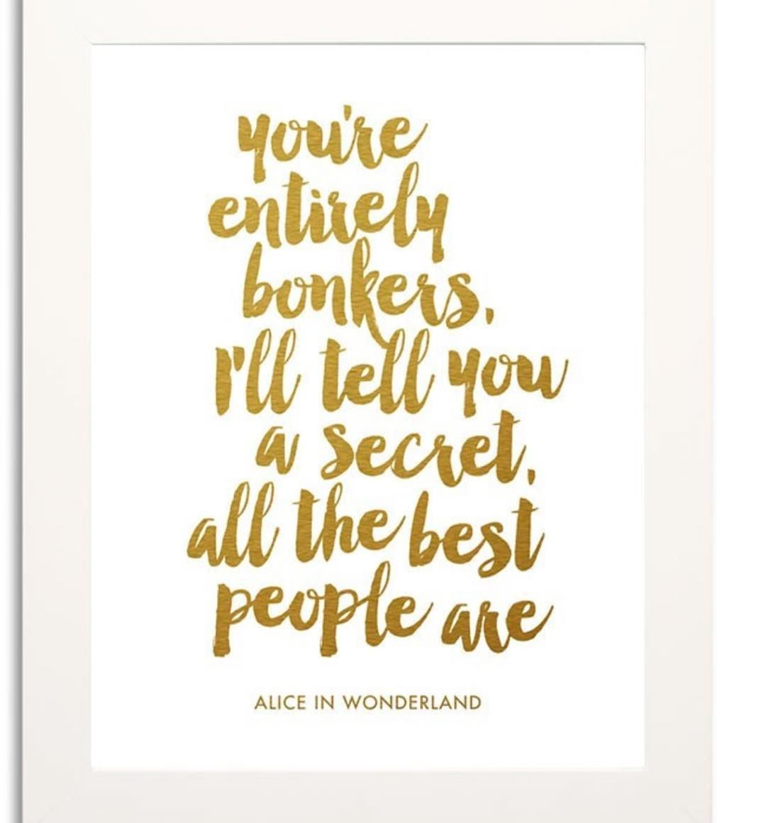 Love Alice in Wonderland! Cute print now in store in framed and unframed versions #aliceinwonderland #bonkers #allthebestpeopleare #shutthefrontdoorstore #stfdnz