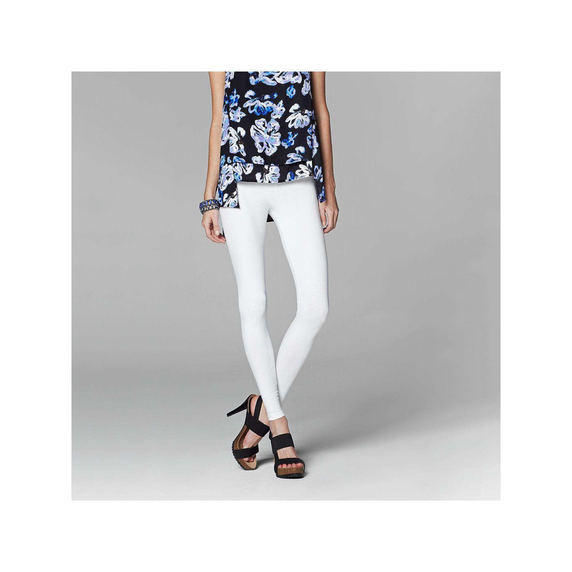 8c47a1cc13de9a Women's Simply Vera Vera Wang Solid Leggings, Size: Medium, White ...