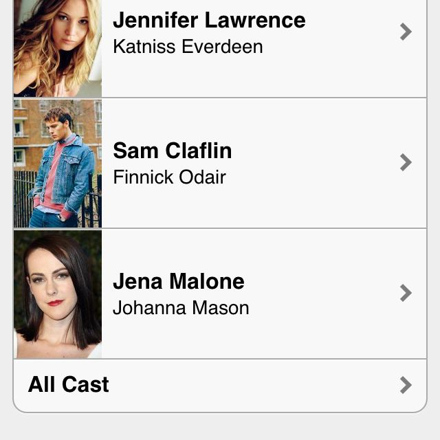 """NOTICE: there is no longer """"(rumored)"""" next to Sam Claflin's name. Happiness."""