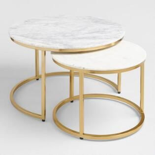 marble ayva nesting coffee tables set
