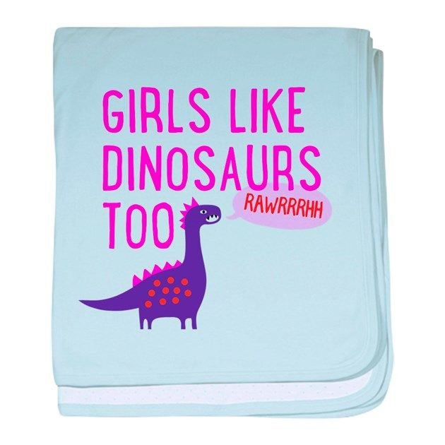 Dino lovers unite! Do you love to walk around the house pretending to be an apatosaurus? Tired of boyish dinosaur designs? Well, now Girls Like Dinosaurs Too!