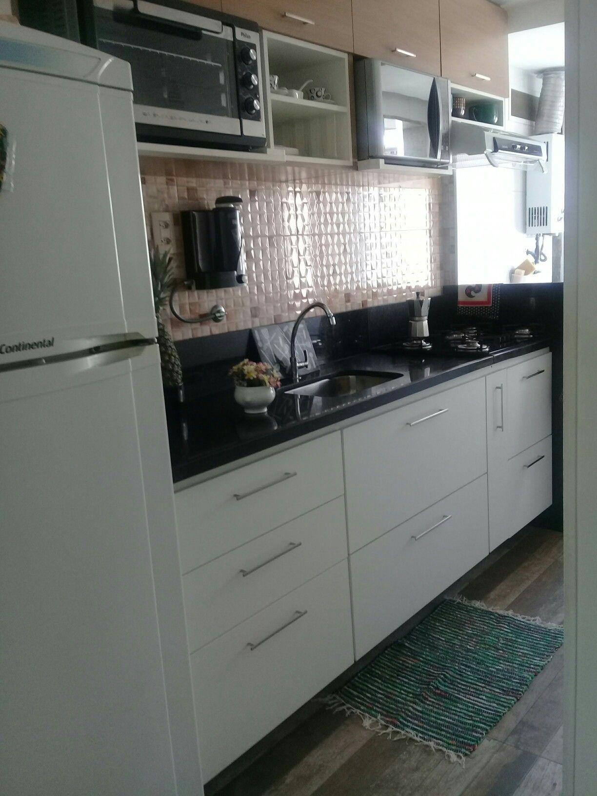 Cozinha Moderna E Pr Tica Piso Porcelanato Retificado Estilo