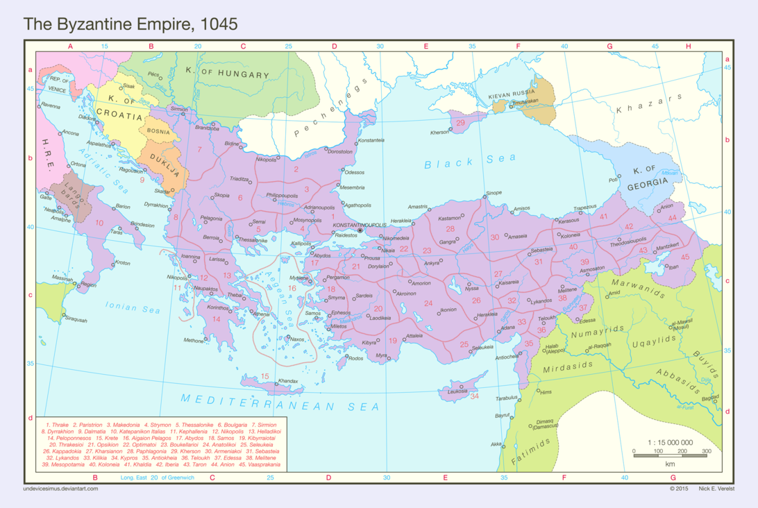 Byzantine Empire On World Map