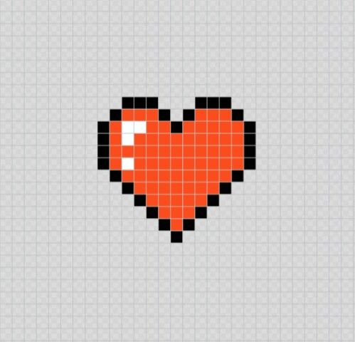 Corazon Rojo Red Heart Pixel Art Patterns Corazon Pixelado Corazones Dibujos