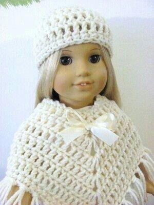 Poncho Crochet Lissy Pinterest Puppen Häkeln Und Stricken