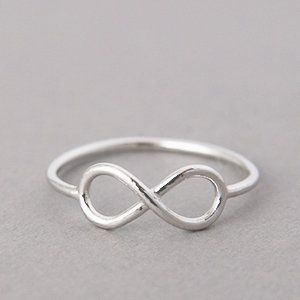 WHITE GOLD INFINITY RING INFINITY SYMBOL RING by kellinsilver jewelry on Wanelo
