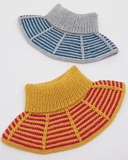 d734c2564 Rillestripehals / Garter Stripes Collar pattern by Strikkelisa ...