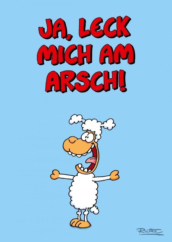 Ruthe Cartoons: lustige Grußkarte mit Schaf und Spruch ...