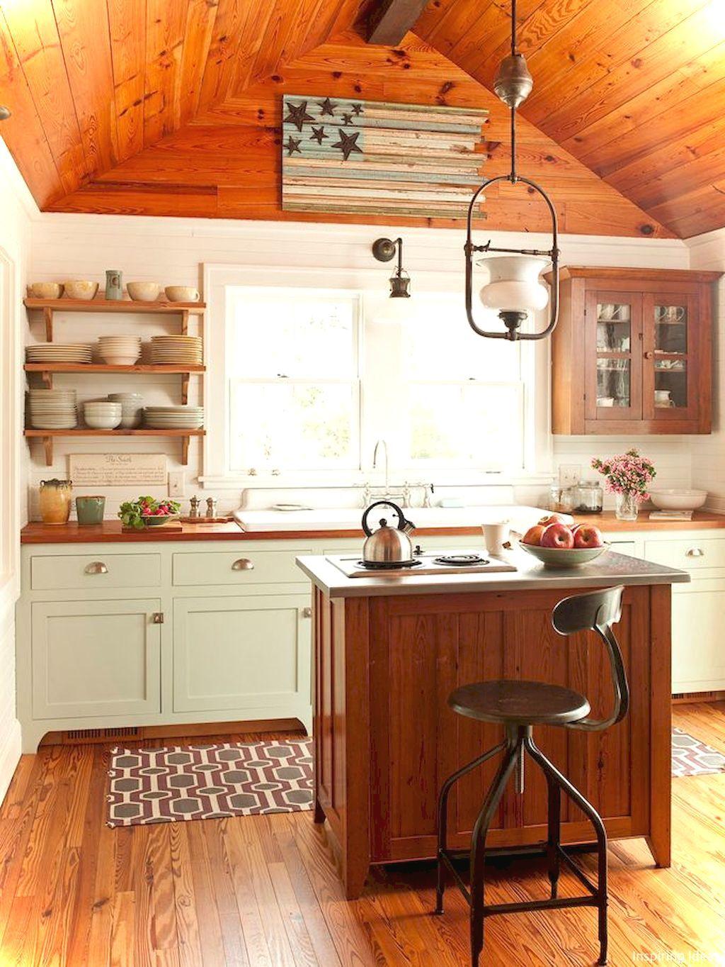 55 Genius Small Cottage Kitchen Design Ideas | Rustic ... on Rustic:mophcifcrpe= Cottage Kitchen Ideas  id=79079