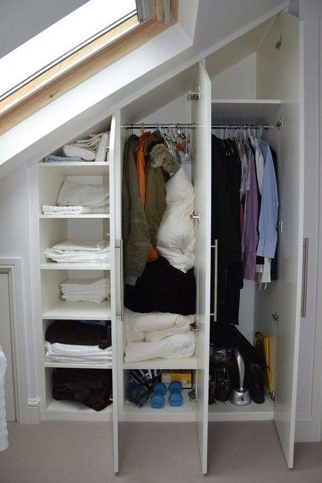 Begehbarer Kleiderschrank Dachschräge - Tolle Tipps zum Selberbauen #loftconversions