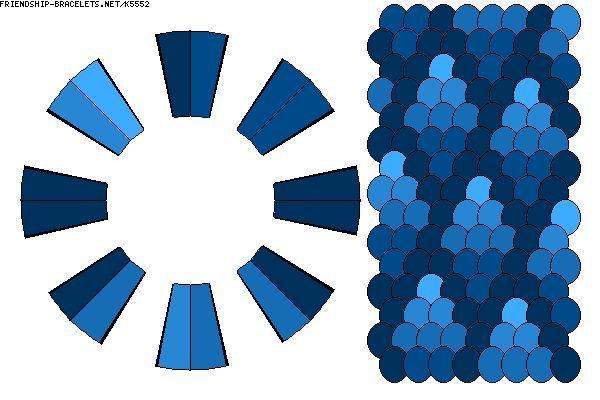 5 - K5552 - A16 strand gradiant fade diamond pattern in 5 shades