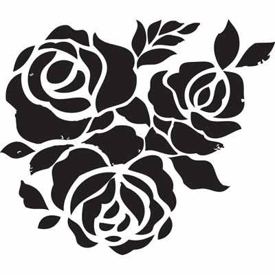 image regarding Rose Stencil Printable referred to as Cost-free Stencils - Stencil 051 decoupage Stencil patterns