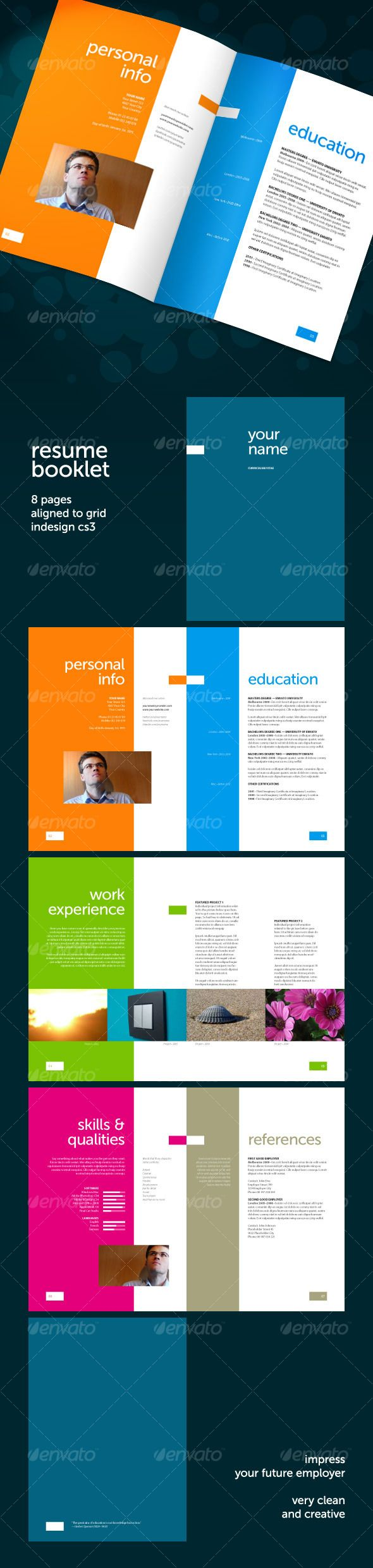 Resume Booklet Indesign