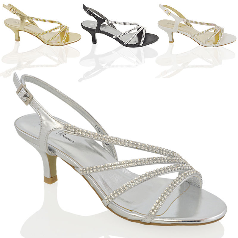 Women Party Bridal Diamonted Ladies Bridesmaid Prom High Heel Sandal Shoe