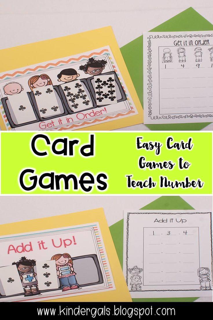 Card games to teach number kindergarten math games