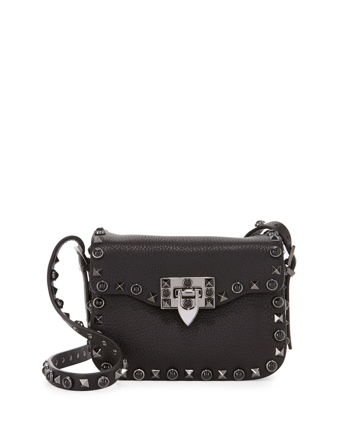 e218ff710581 Rockstud Rolling Noir Medium Shoulder Bag Black | Fashion | Bags ...