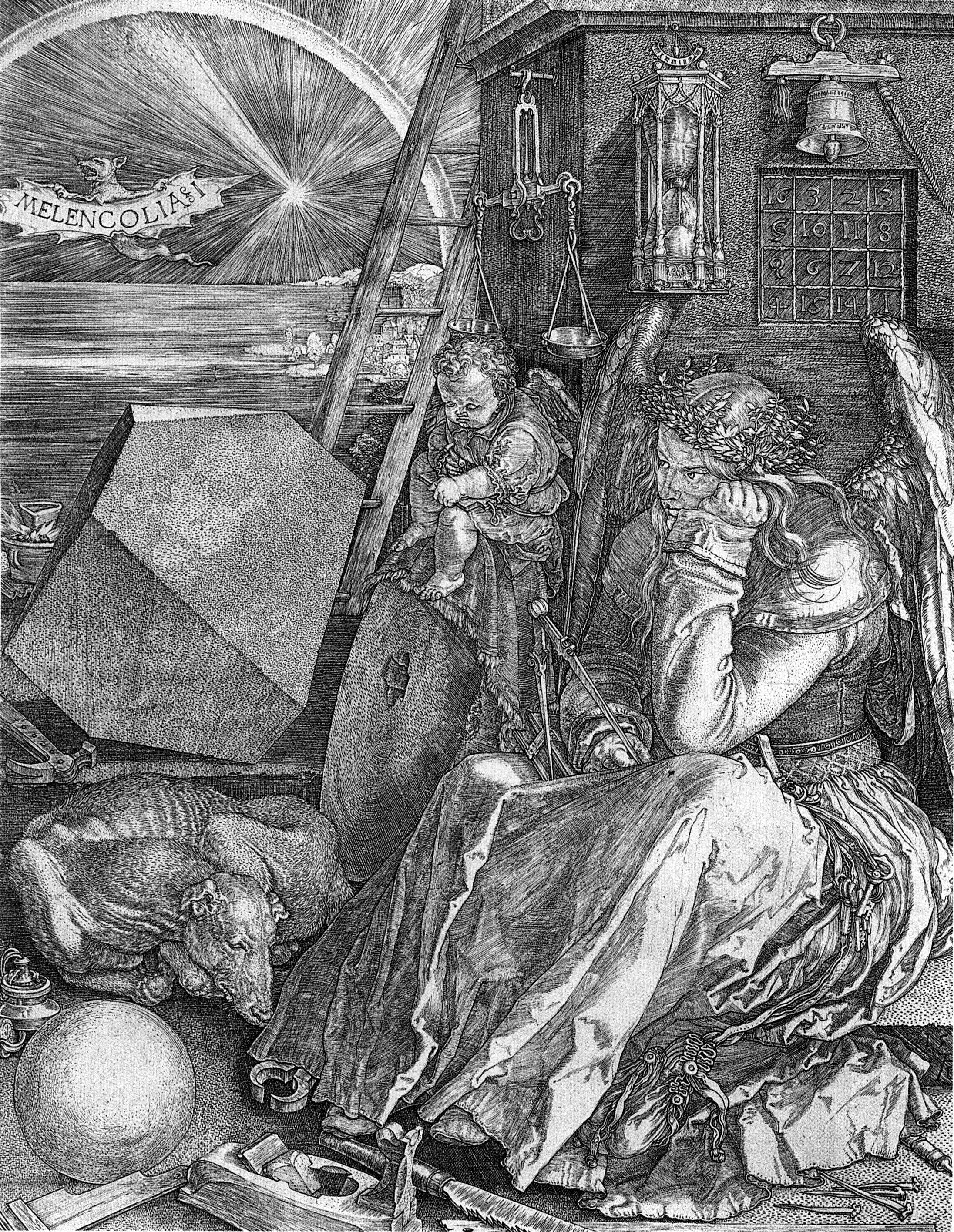 Http Upload Wikimedia Org Wikipedia Commons 1 18 D C3 Bcrer Melancholia I Jpg Albrecht Durer Albrecht Durer Renaissance Art