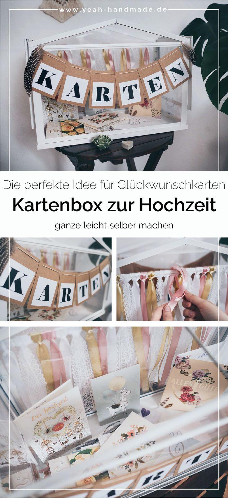 Photo of DIY Kartenbox zur Hochzeit selber machen • Yeah Handmade
