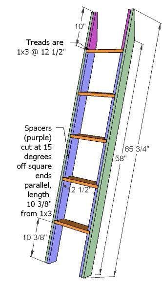 Diy Wooden Ladder Plan Google 検索 Build A Loft Bed Bunk Bed