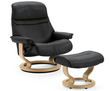 office recliner chair. The Chair Of My Dreams, A Sunrise Stressless Recliner By Ekornes. Medium Size, In Paloma Grey Leather With Natural Wood Base You See Here. Office