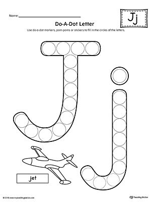 Letter j do a dot worksheet ideas for the house for Letter j template preschool