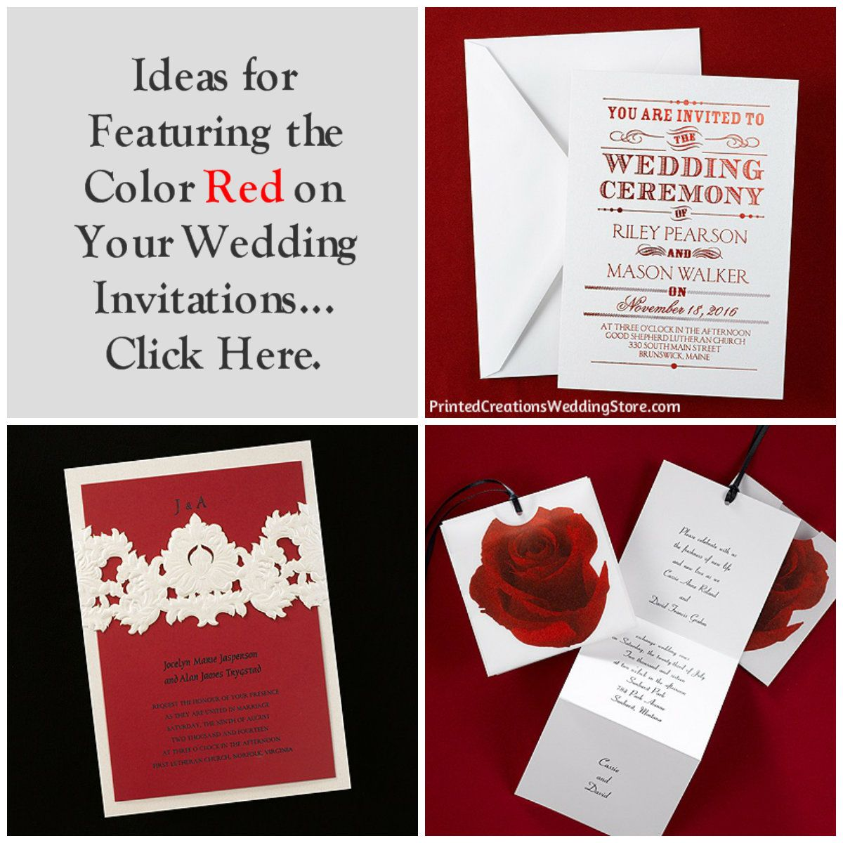 Be Bold with Red Wedding Invitations | Theme Wedding Invitations ...