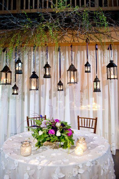 Erin And Tanner S Wedding In Koloa Hawaii Lantern Decor Wedding Head Table Backdrop Wedding Lanterns