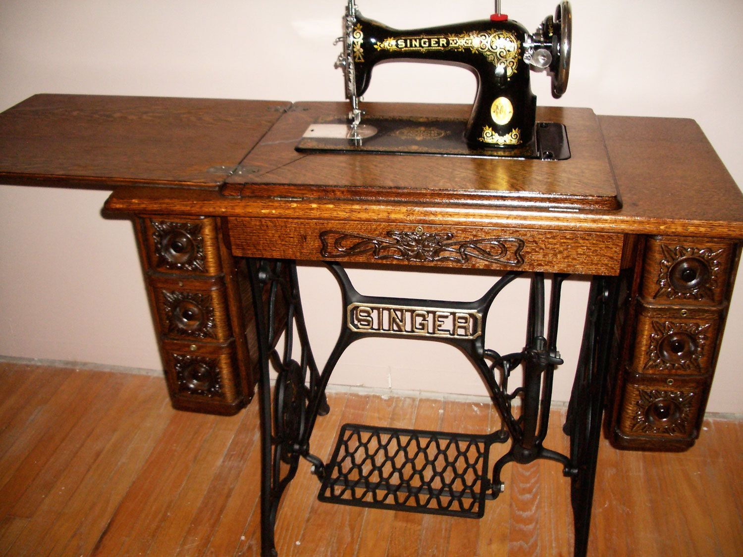 Singer treadle sewing machine - one similar to the one my mom made ...