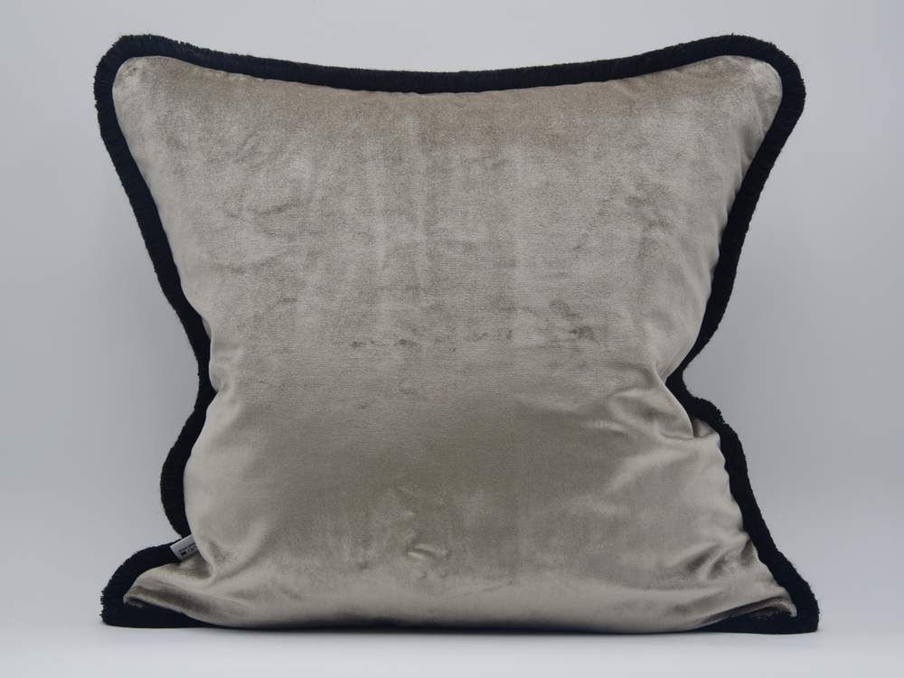 Kissen Zebra Samt Sand Bw Acetat Polyester 50x50cm Ein