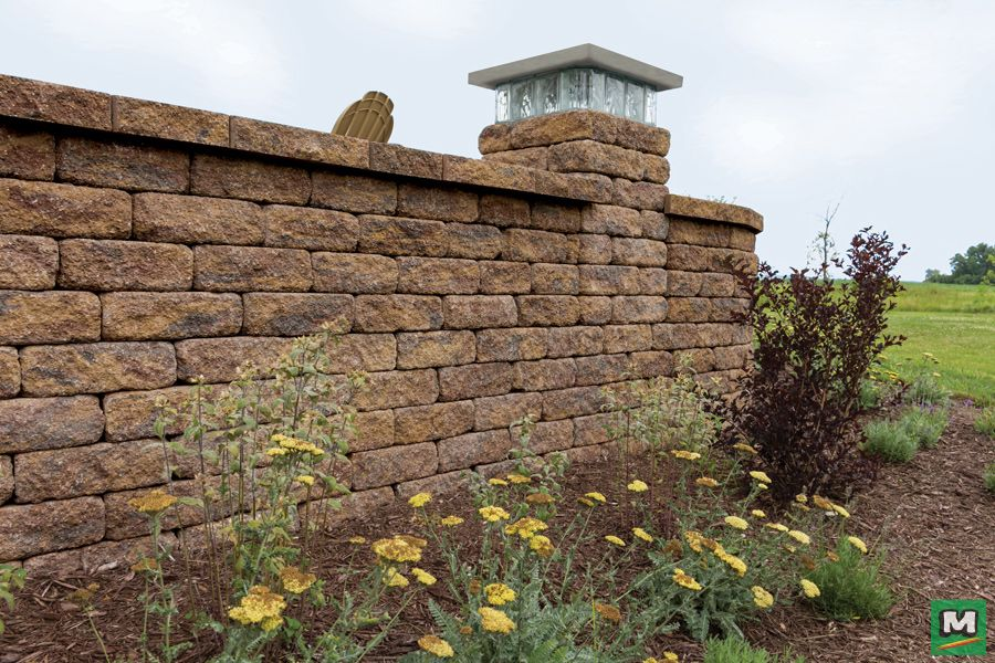 Create The Ultimate Outdoor Living Space With Tumbled Catalina Freestanding Wall Blocks Featuring A Landscape Materials Landscaping Inspiration Stylish Patio