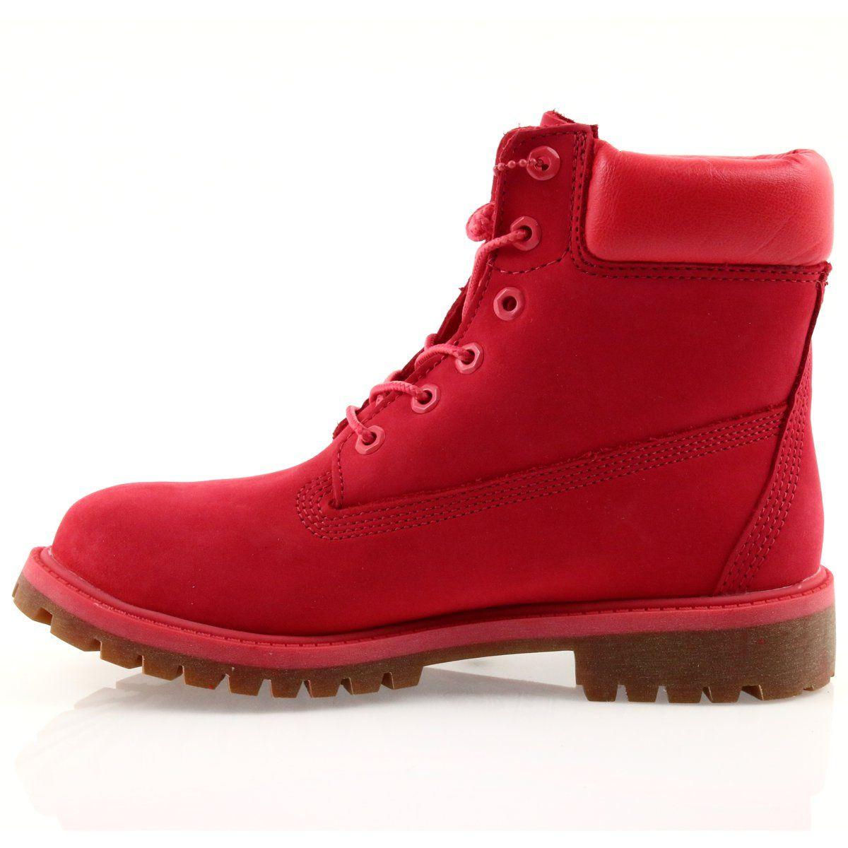 Timberland 6 Inch Premium Waterproof Czerwone Timberland Boots Women Timberland Timberland 6