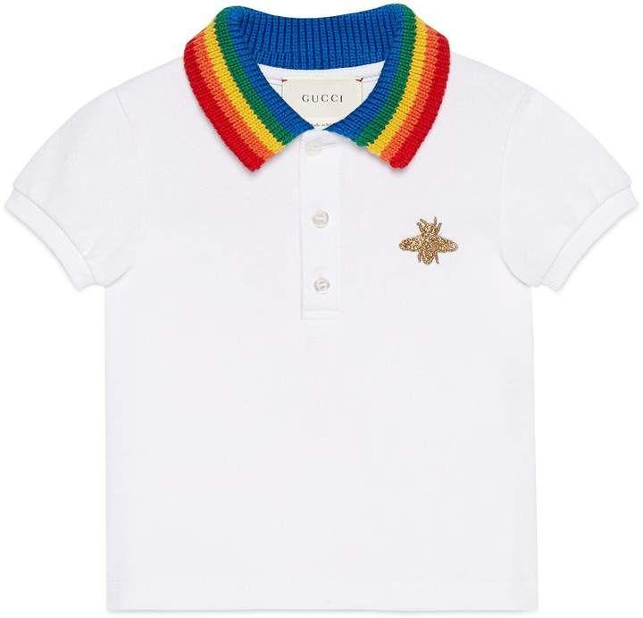72044d6fa0 Gucci Stretch Cotton Piquet Polo | Products | Polo, Gucci kids, Cotton
