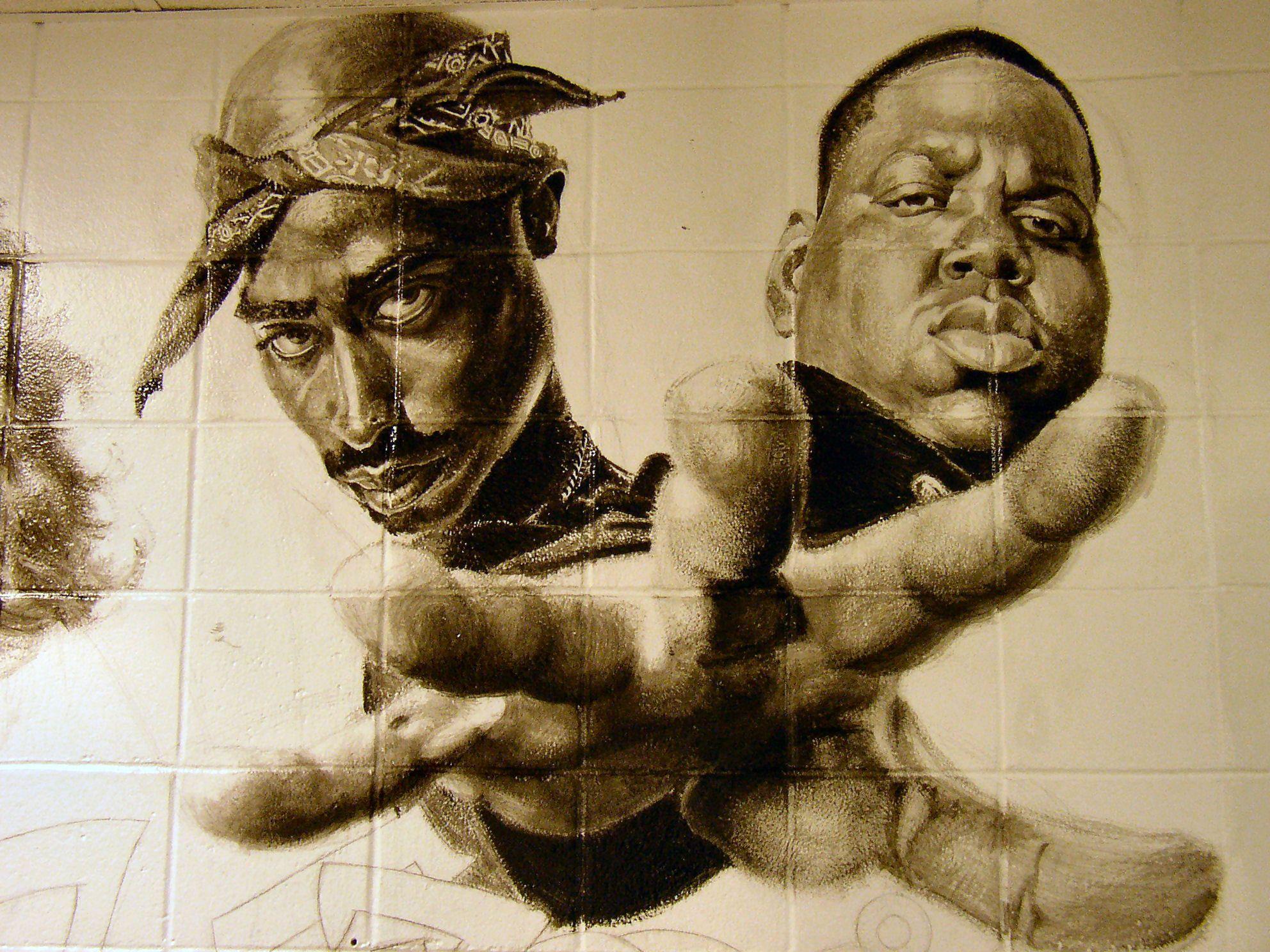 Tupac Shakur And Biggie Smalls