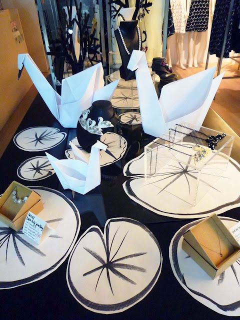 THE HANSEL BLOG: The Geometric Swan shop decor!