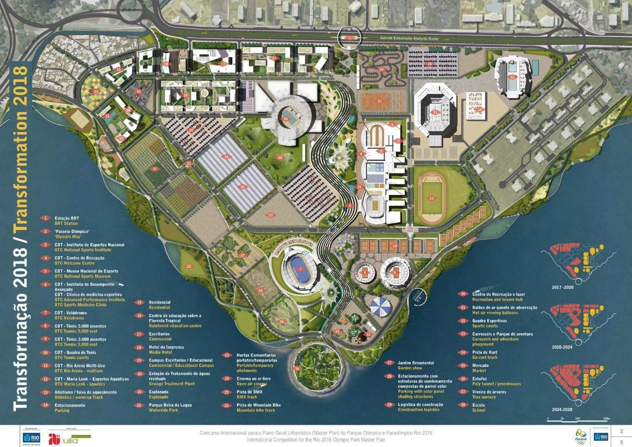 Gallery Of Aecom Wins International Competition For Master Plan Of Rio 2016 Olympic Park 4 Rio Olympics 2016 Rio 2016 Olympics