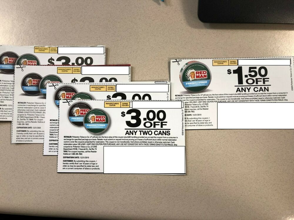 Lot of 5 Red Man Coupons eBay Kroger couponing