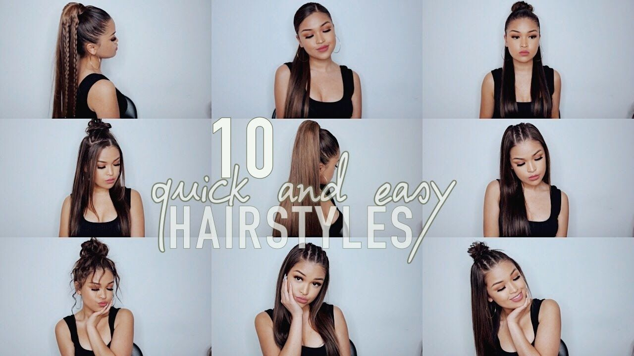 10 Simple Quick And Easy Hairstyles Koleen Diaz Youtube Baddie Hairstyles Easy Hairstyles Diy Hairstyles