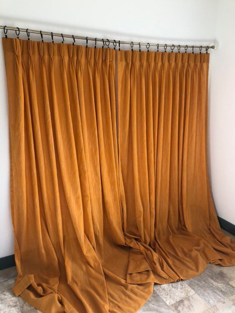 Your Place To Buy And Sell All Things Handmade Orange Drapery Vintage Curtains Orange Curtains #vintage #curtains #for #living #room