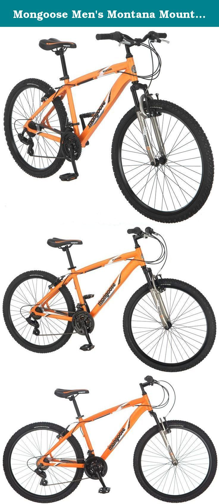 Mongoose Men S Montana Mountain Bike Matte Orange Medium The