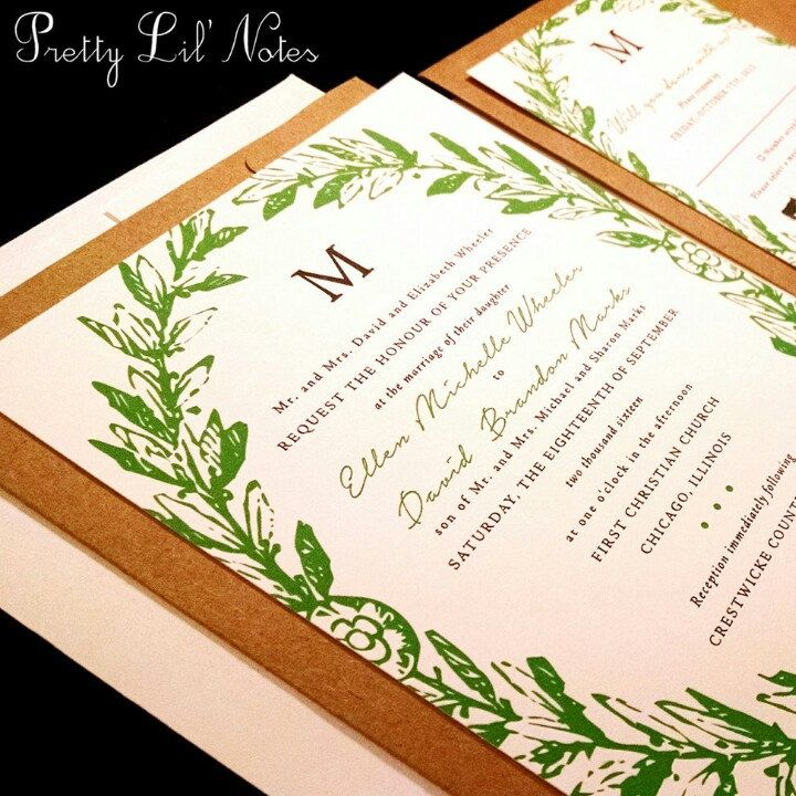 PrettyLilNotes shared a new photo on Etsy Unique wedding