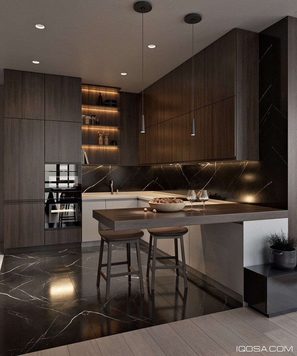 105 Inspiring Examples Of Contemporary Interior Design Https Www Mobmasker Com 105 Inspi Contemporary Kitchen Interior Design Kitchen Popular Kitchen Designs