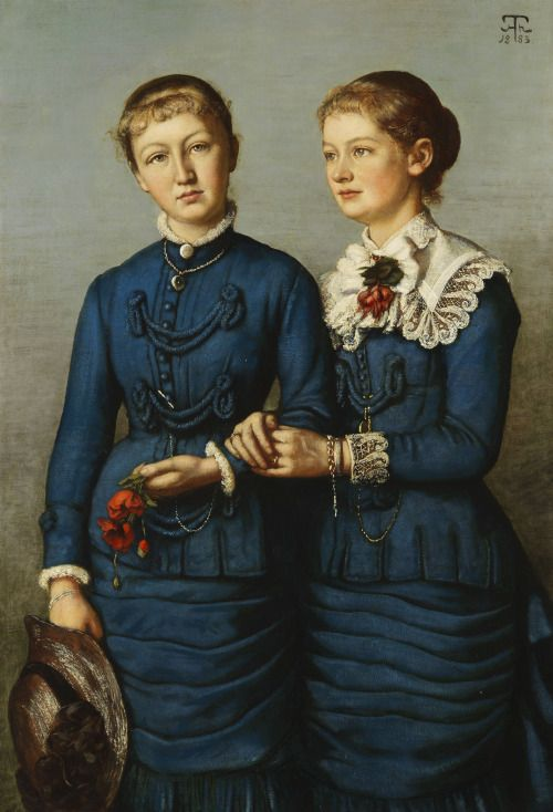 1883 Hans Thoma - Two daughters of the Haag family