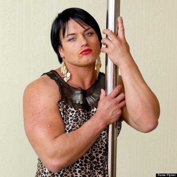 Female bodybuilder facial