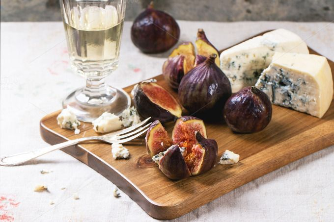Check out Figs and cheese by Natasha Breen on Creative Market