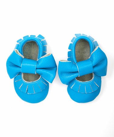 Look at this #zulilyfind! Turquoise Mary Jane Moccasin Booties #zulilyfinds