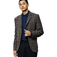 Mr Bowerbird Men Brown & Blue Checked Tailored Fit Single ...